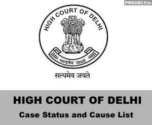 Delhi High Court Case Status