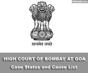 Goa High Court Case Status
