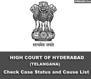 Hyderabad High Court Case Status