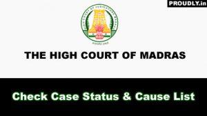 Madras High Court Case Status
