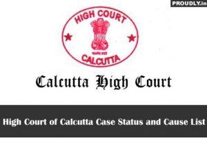 Calcutta High Court Case Status