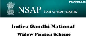 Indira Gandhi National Widow Pension Scheme