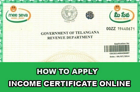 How to Apply Income Certificate
