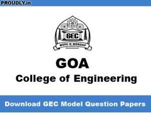 GEC Model Question Papers
