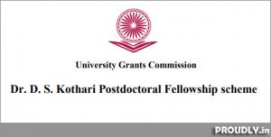 D. S. Kothari Post Doctoral Fellowship