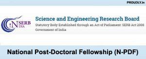 National Post Doctoral Fellowship