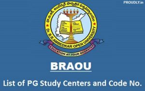 BRAOU PG Study Centers