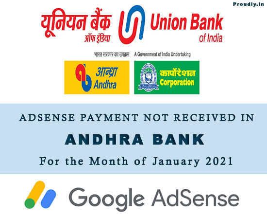 Adsense Payment Not Received Andhra Bank