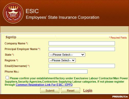 ESIC Online Registration